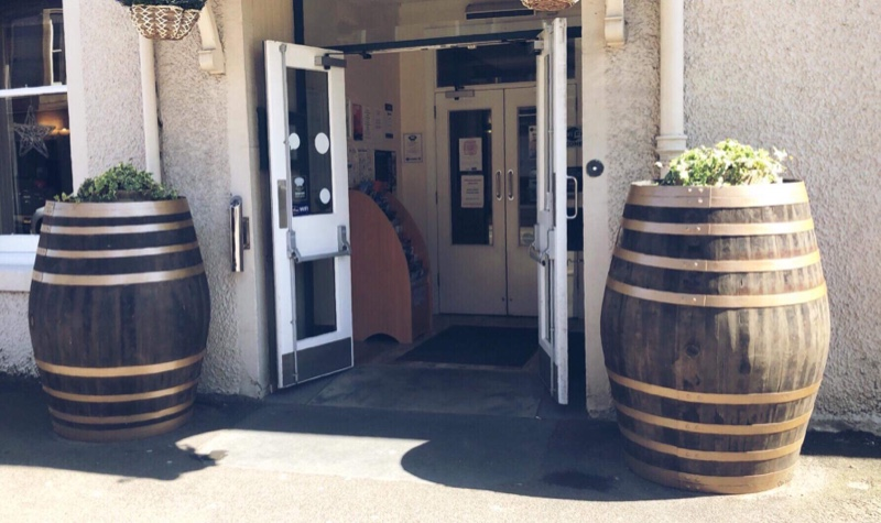 With our hotel being in the heart of the whisky trail we have authentic whisky barrel decoration at the hotel